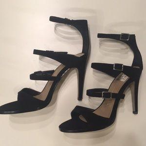 DV Talin black suede strappy heels! Size 7